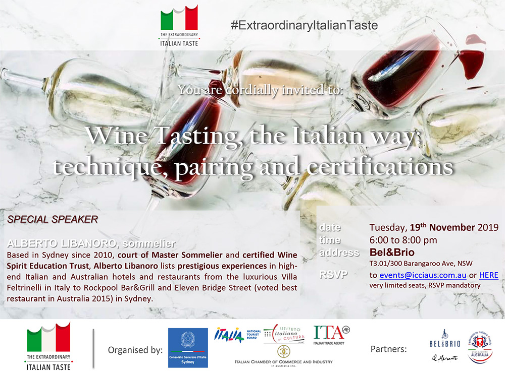 Wine Tasting, the Italian Way: Technique, Pairing and Certifications